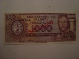 PARAGUAY - Billet Specimen De 1000 Guaranies - UNC - Neuf - L1952  P.201 - Paraguay