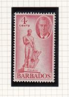 King George VI - 1950 - Barbados (...-1966)