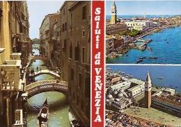 ITALIA-VENEZIA: CARTOLINA POSTALE-POSTCARD MULTIVIEW  SALUTI DA VENEZIA.  NON CIRCOLATA.UNCIRCULATED. GECKO. - Venezia (Venice)