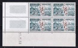 Athlétisme  Yv 961  Coin Daté Du 19.11.53  ** - 1950-1959