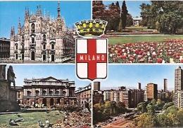 ITALIA- LOMBARDIA-MILANO: CARTOLINA POSTALE MULTIVIEW MILANO: IL DUOMO, ARCO DELLA PACE... NON CIRCOLATA. GECKO. - Milano (Milan)