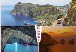 NAPOLI- CAPRI: CARTOLINA POSTALE-POSTCARD CAPRI MULTIVIEW.  ED. VINCENZO CARCAVALLO. Nº C/79. GECKO. - Napoli (Naples)