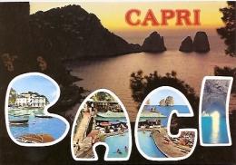NAPOLI- CAPRI: CARTOLINA POSTALE-POSTCARD CAPRI MULTIVIEW.  Nº 195. GECKO. - Napoli (Naples)