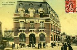 76-ELBEUF...BANQUE DE FRANCE.....CPA  ANIMEE - Elbeuf