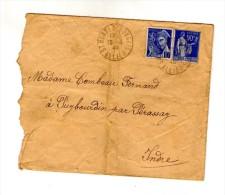 Lettre , SAINT BONNET TRONCAIS , Allier , 1940 , Au Verso Oblitération : Perassay , Indre - 1921-1960: Période Moderne