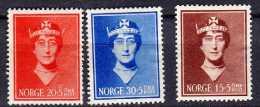 Norvège Y&t N° 196.197.198.neufs*aminci Sur 198 - Ungebraucht