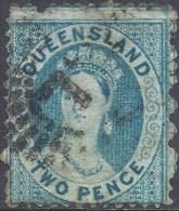 QUEENSLAND 1868 2d BLUE Nº 81 - 1860-1909 Queensland