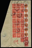 A2654) DR Infla Großes Briefstück Mit Massenfrankatur Dienst Jandelsbrunn 16.01.1923 - Dienstpost