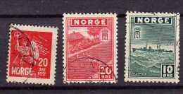 Norvège Y&t N° 149.263.265.oblitérés - Oblitérés