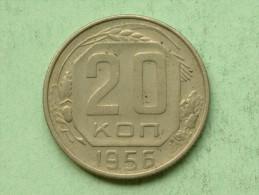 20 Kopeks - 1956 / Y# 118 ( Uncleaned - For Grade, Please See Photo ) ! - Russie
