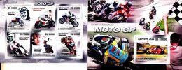 Saint Thomas Et Prince 3496 / 00 + Bf 537 Motocyclisme - Motorbikes