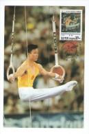 KOREA 1996  MK MC MAXIMUM CARD SPORT GYMNASTICS LI JING WORLD CHAMPIONSHIP WINNERCHINA - Gymnastik