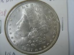 US USA 1 ONE DOLLAR MORGAN COIN SILVER 1887  LOT 10 - Émissions Fédérales