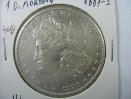 US USA 1 ONE DOLLAR MORGAN COIN SILVER 1881 S  LOT 10 - Émissions Fédérales