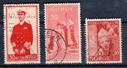 Norvège Y&t N°342.367.348.oblitér és - Gebraucht
