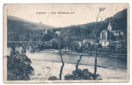 CPSM Lincou Aveyron 12 Vue Générale Est éditeur  Barthelemy Non Postée Porte Des Mentions Manuscrites Au Dos - Autres Communes