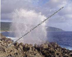 Australia Christmas Island - The Blow Holes - Christmas Island
