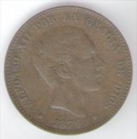 SPAGNA 10 CENTIMOS 1879 - [ 1] …-1931 : Regno