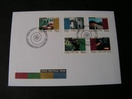 == CH FDC 1998  1649-1653  €  9,00 - FDC