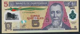 GUATEMALA P122a  5  QUETZALES  2010   UNC. - Guatemala