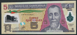 GUATEMALA P122b  5  QUETZALES  2011  UNC. - Guatemala