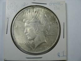 US USA 1 ONE PEACE DOLLAR COIN SILVER 1923    LOT 10 - Émissions Fédérales