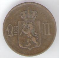 NORVEGIA 5 ORE 1876 - Norvegia