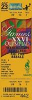 Ticket Olympic, Atlanta 1996. - Eintrittskarten