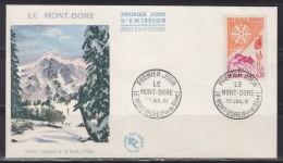 = Enveloppe 1er Jour Le Mont Dore Puy-de-Dôme 1.7.61 N°1306 Téléphérique Du Puy De Sancy, Station De Ski Et Climatique - Ski