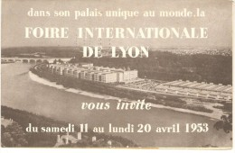 FOIRE INTERNATIONALE DE LYON AVRIL 1953 - Programas