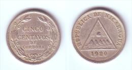 Nicaragua 5 Centavos 1920 - Nicaragua