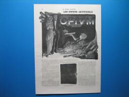LES ENFERS ARTIFICIELS. L'OPIUM  -  Document De Presse De 2 Pages (1913) - Vieux Papiers