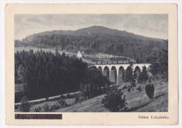 Wisla - Vue Sur Le Viaduc Et Le Train à Vapeur Le Franchissant - Pas Circulé, Légendes An Allemand Noircies,  10.5X14.9 - Pologne