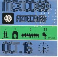 Ticket Olympic, Mexico 1968. - Tickets - Entradas
