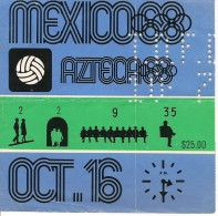 Ticket Olympic, Mexico 1968. - Eintrittskarten