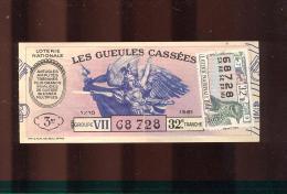 Billet De La Loterie Nationale De 1961  -  Les Gueules Cassées   -  32 ème  Tranche - Billets De Loterie