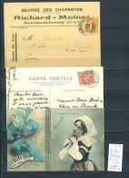 Lettre Cachet Convoyeur Marans à Surgeres Et Retour - 3 Piéces - Postmark Collection (Covers)
