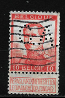 BELGIQUE  Perfin  Perfore   C.A. - Lochung