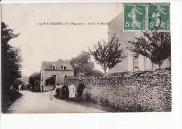 Carte 1915 SAINT BAUDELLE / ECOLE ET MAIRIE - France