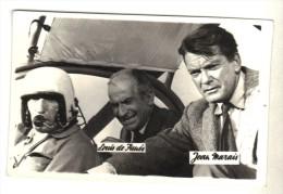 "Real Photo Movie Actors Jean Marais And Louis De Funes In ""FANTOMAS"",  9x6cm - Acteurs"