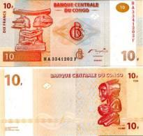 CONGO DR   10 Francs 2003  **UNC** - Congo