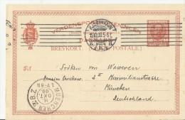 =DK GS 1908 NACH DE - Ganzsachen