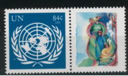 **4** - NAZIONI UNITE  Sede Centrale New York 2007 - Emblema Dell'O.N.U. - 1 Val. MNH** - Perfetto - Unused Stamps