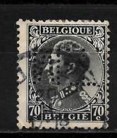 BELGIQUE  Perfin  Perfore   M.T. - Perfins