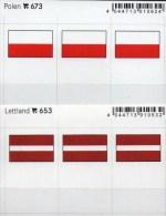 2x3 In Farbe Flaggen-Sticker Polen+Lettland 4€ Kennzeichnung Alben Karten Sammlungen LINDNER 673+653 Flags Poland LATVIA - Klasseerkaarten