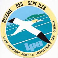 Autocollant, Stickers, Réserve Des Sept Iles, Ligue Française Pour La Protection Des Oiseaux - Autocollants