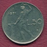 F3110 / - 50 Lire  - 1977  - Italia Italy Italie Italien Italie - Coins Munzen Monnaies Monete - 1946-… : República