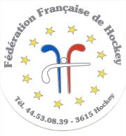 Autocollant, Stickers, Fédération Française De Hockey - Pegatinas