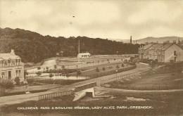 ECOSSE  GREENOCK CHILDREN S PARK BOWLING GREENS LADY ALICE PARK  RENFREWSHIRE - Renfrewshire
