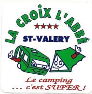 Autocollant, Stickers, La Croix L'abbé, St Valery Sur Somme, Le Camping C'est Super - Autocollants